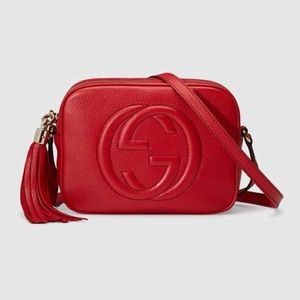 Gucci Small Soho Leather Disco Bag RED